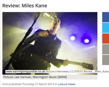 Miles Kane Review, Warrington Guardian. Photo: Lee Harman