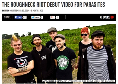 Kerrang! Website -Photo: Lee Harman © Roughneck Riot, France